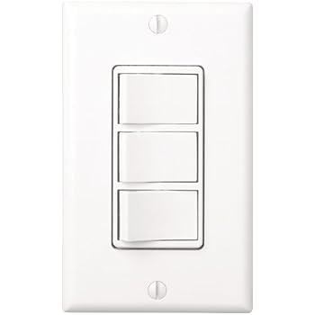 Broan 77DW Three Switch, Four Function Control-Heater/Fan/Light, Night-Light, White