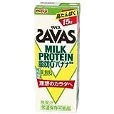 (3ケース)明治 SAVAS ザバス MILK PROTEIN 脂肪0 バナナ風味 200ml×72本