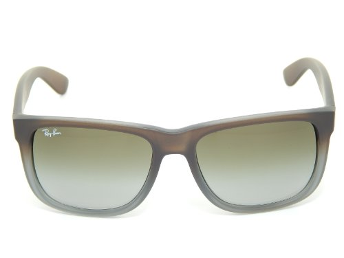 b82d4521b0833 Rayban Sunglasses Justin RB4165 854 7Z RUBBER BROWN ON GREY GREEN GRADIENT