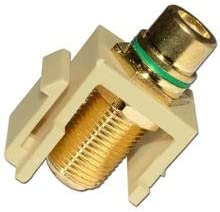 Skywalker Signature Series Keystone F Female to RCA Female Almond Insert with Green Band