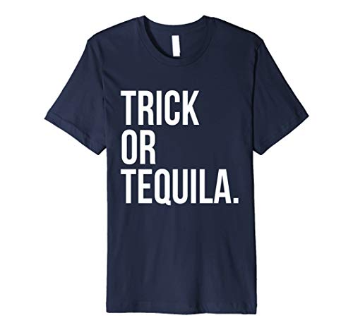 Trick Or Tequila T-Shirt Funny Alcohol Shots Halloween -