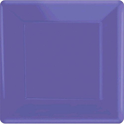 Amscan New Purple Square Paper Plates, 20 Ct. | Party Tableware