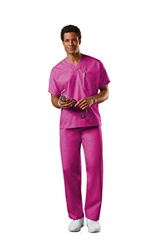 - Cherokee Uniforms Authentic Workwear Unisex Scrub Set (Raspberry, XL)