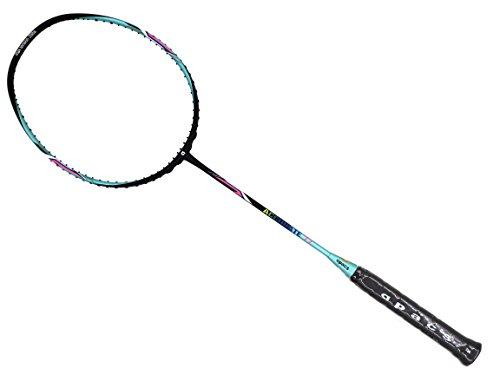 Apacs Accurate 77 Green Black Matte Badminton Racket (4U) by Apacs