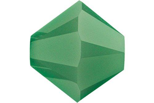 Swarovski 5301 24 Piece (Swarovski Crystal, #5328 Bicone Beads 4mm, 24 Pieces, Palace Green Opal)