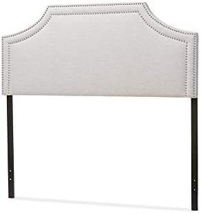 Baxton Studio Avignon Modern And Contemporary Fabric Upholstered Headboard Grey/Queen/Contemporary