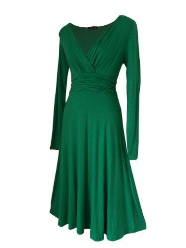 Retro THE Grün Abendkleid Vintage Cocktailkleid STARS 54 34 52 LOOK FOR EU Größen nfgwtH