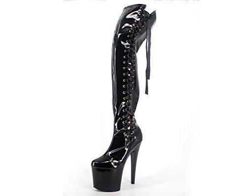 Wonderheel stiletto heel platform over knee lace up stiefel