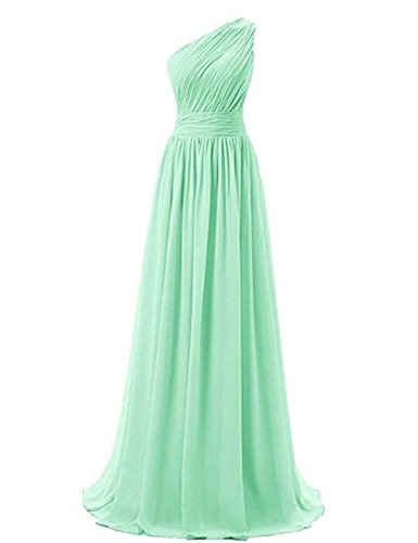 Prom Mint Cdress Maxi One Dresses Chiffon Dress Gowns Bridesmaid Long Party Evening Shoulder Formal 0OpTfq10