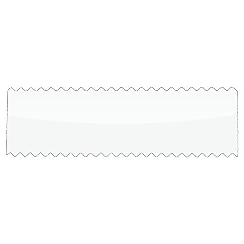 Acetate Security Labels, Clear, 2 in x 0.6 in, Serrated Edges, Roll of 1000