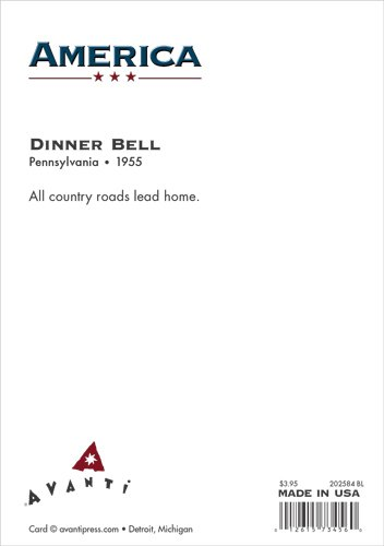 Avanti Press Historic America Blank Notecards, Dinner Bell, 10-Count - 32055