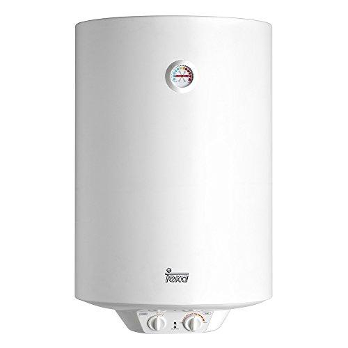 Teka 42080080 Termo Electrico | 1500 W | 80 L | Blanco | Clase de eficiencia energetica D | Modelo Ewh80 | Tanque esmaltado | Resistencia Ceramica | Termostato Temperatura 30-75º