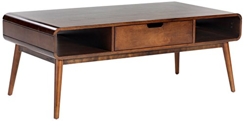 Belham Living Carter Mid Century Modern Coffee Table (With Table Wooden Drawers Coffee)