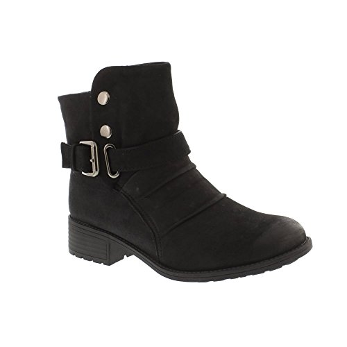 Ankle Boots Ladies Spirit Pleated Leather Earth Black Black CLARKSVILLE YpwvqO