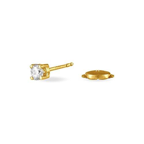 HISTOIRE D'OR - Boucles d'Oreilles Puces Or Jaune - Femme - Or jaune 750/1000