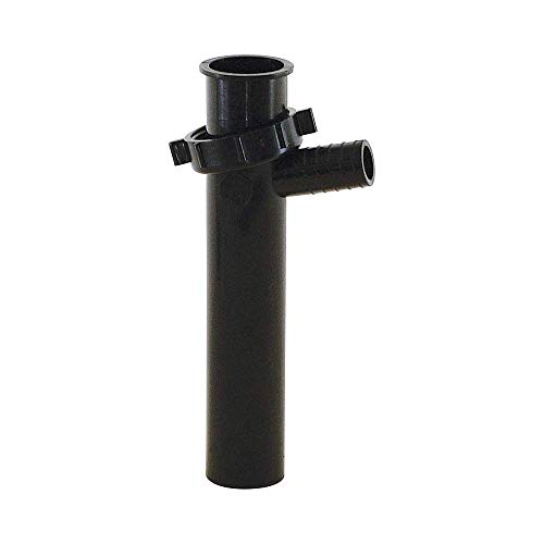 (Eastman 35328 1-1/2-inch Branch Tailpiece for Tubular Drain Applications, Black, 1.5 x 1.5 x)