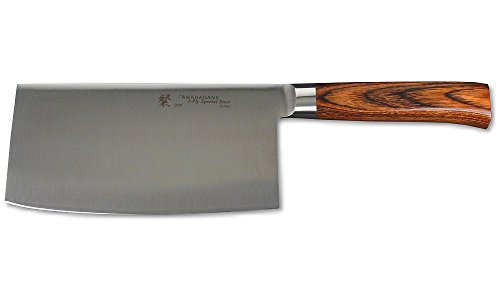 Tamahagane SAN Stainless Steel Laminated Wood Chinese Knife, 7-Inch