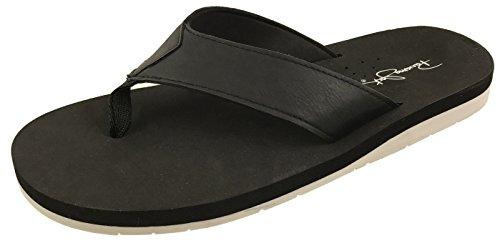 Panama Jack Mens Casual Sandal Flip Flops Off Black FdQHiq33rD