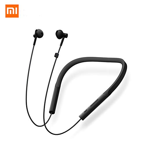Gooplayer for Xiaomi Bluetooth Earphone Neckband Collar Youth Edition Sport Wireless Bluetooth Headset with Mic Earbuds Headphone (Black)
