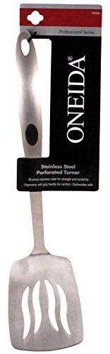 Oneida 50304 Slotted Turner, 13 L in, Brushed Stainless Steel