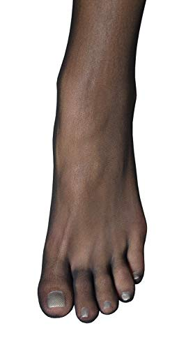 (Thalia - Sheer Seamless Toe Glove Pantyhose PEEP TOE PANTYHOSE (Black))