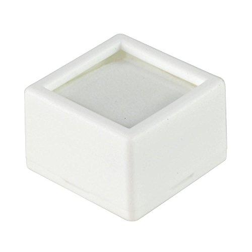 - 12 Glass Top Gem Jars - White Gemstones Jewelry Display