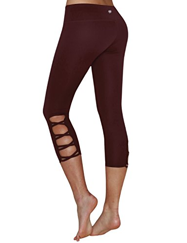9dd43ec9346840 Yogareflex Running Workout Crisscross Side leggings. Review - Yogareflex  Women's Active Running Yoga Workout Crisscross-Side Capris leggings