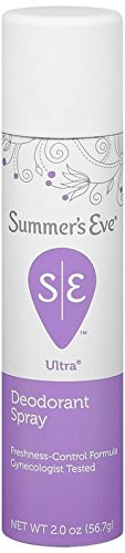 Summer's Eve Ultra Extra Strength Feminine Deodorant Spray, 2-Ounce Cans (Pack of 6)