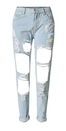 La A Ajustados Al Casuales Pantalones Moda Con Claro Mujeres Libre De Y Bolsillos Vaqueros Aire Cremallera Lisos Mezclilla Azul XIqHYB