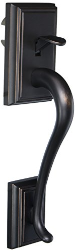 - Schlage F92-ADD Addison Dummy Exterior Handleset from the F-Series, Aged Bronze