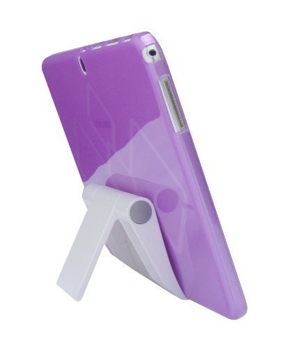 iShoppingdeals - Purple TPU Rubber Cover Case and Multi-Angle View Stand Holder for Samsung Galaxy Tab 3 10.1-INCH (GT-P5210)