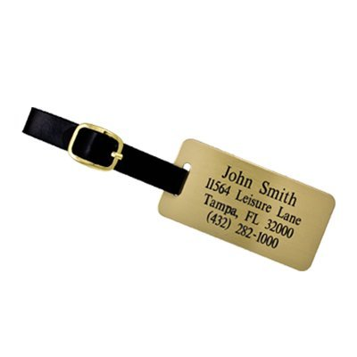 Personalized luggage tags used for travelling purpose