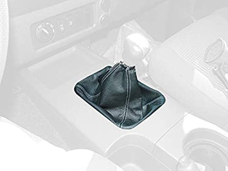 RedlineGoods shift boot compatible with Chevrolet Cobalt 2005-10 Black perforated leather-Silver thread
