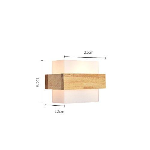 Moderne Bd Verre Bois La Simple Murale À Lampes En Chambre Applique 4j3RA5L