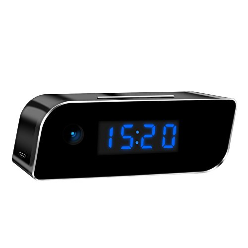 Sappywoon Wireless Hidden Security Camera Clock HD Live Video Recording Rechargeable Spy