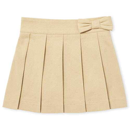 - The Children's Place Big Girls' Uniform Skort, Sandy, 4 Plus