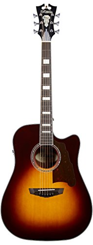 D'Angelico Premier Bowery Acoustic-Electric Guitar - Vintage Sunburst