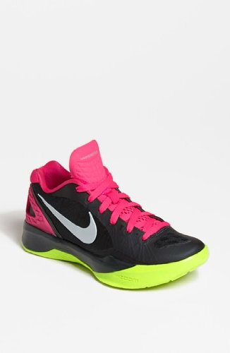 Nike Womens Volley Zoom Hyperspike Anthracite/Pink Flash/Volt/Metallic Platinum 11 B - Medium