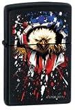 Zippo Bald Eagle Flag Black Matte Lighter