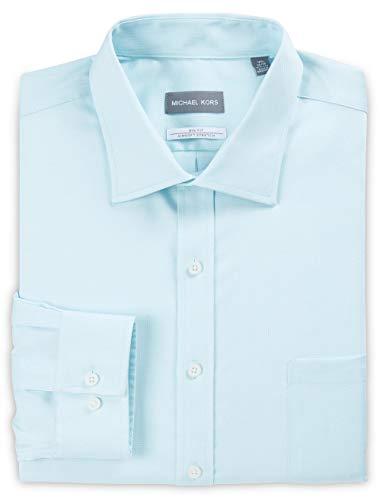 Michael Kors Non-Iron Mini Dobby Stretch Dress Shirt Aqua