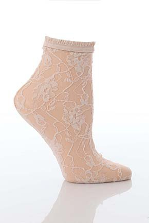 Jonathan Aston Sweet Roses Lace Ankle Sock