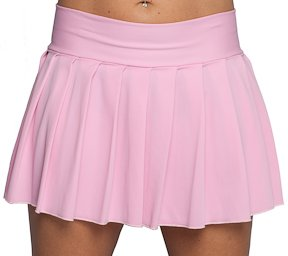 Amazon.com: Pleated Mini Skirt Pink Lycra. Junior Size Womens ...