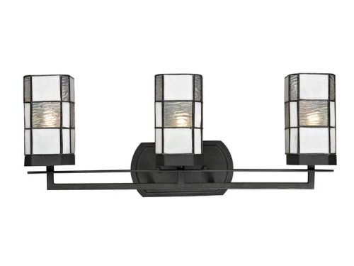 on sale Dale Tiffany TW12470 Landis 3-Light Vanity Lights, Matte Coffee Black
