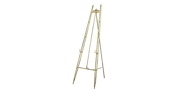 metal caballete dorado vintage de metal grueso Caballete para exteriores soporte de exhibici/ón de 120 cm//150 cm dorado 45*45*120CM