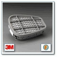 3M Safety 6001 Low-Maintenance Organic Vapor Cartridge, For 6000 and 7000 Series Air Purifying Respirator (Pack of 2) by 3M