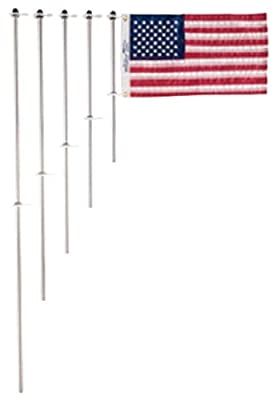 Taylor Made Products 917 Aluminum Boat 3/4-Inch Flag Pole With Charlevoix Clips (30-Inch)
