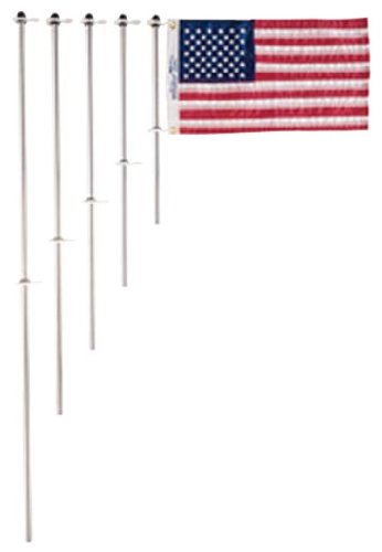 Taylor Made Products 917 Aluminum Boat 3/4-Inch Flag Pole With Charlevoix Clips (30-Inch) ()