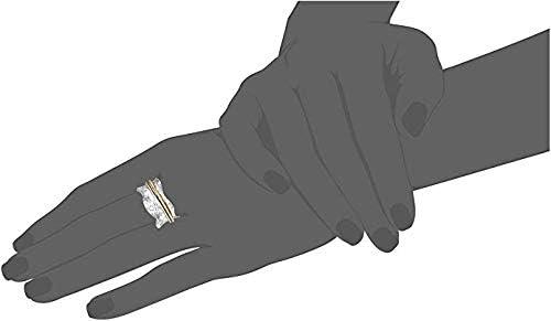 Style UK04 Energy Stone WIESE Silber und Messingfarbener Drehring