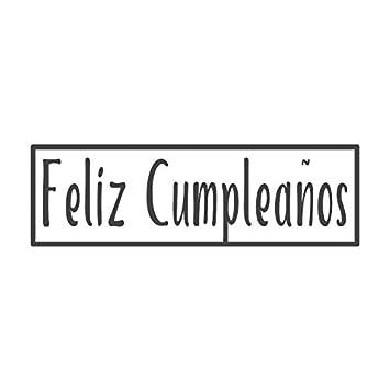 Amazon.com : Feliz Cumpleaños with border, pre-inked En ...