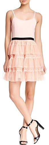 alice + olivia Women's Grace Tiered Ruffle Tank Dress, Size 8, Rose Quartz